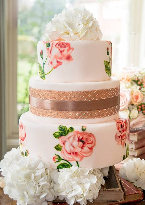 MurrayMe-Peach-Gold-Roses-Wedding-Cake - mangiabeneblog