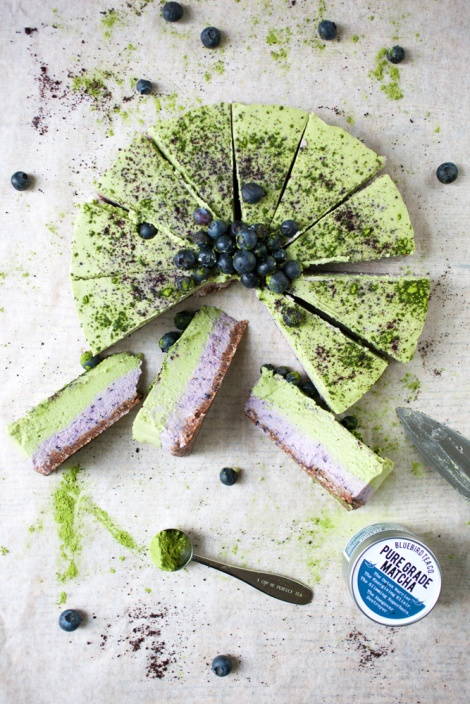 matcha-blueberry-cheesecake